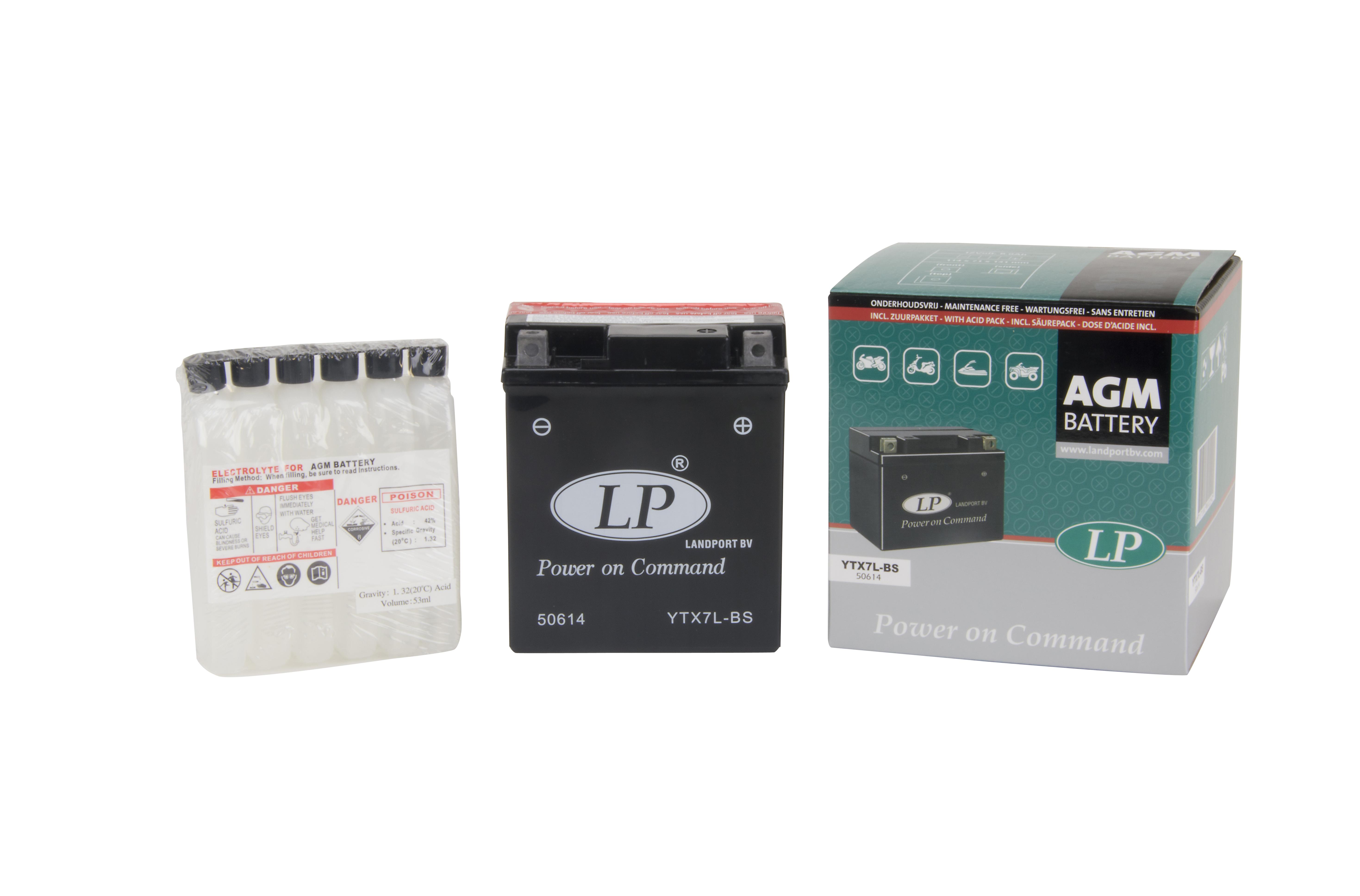 Baterie Moto fara intretinere 12V 6Ah L 114 l 71 H 131 0