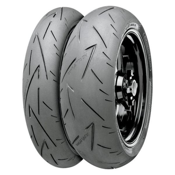 Anvelopa moto asfalt Sports tyre CONTINENTAL 110 70ZR17 TL 54W ContiSportAttack 2 Fata